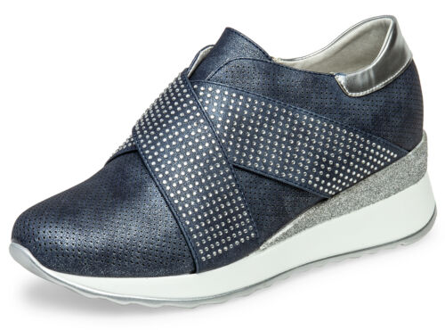 Caspar sbo101 Scarpe da Donna Metallizzato plateu Sneaker Glitter Strass 7 CM paragrafo