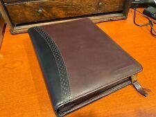 Franklin Quest Black Amp Brown Leather 7 Ring Planner Organizer Filled