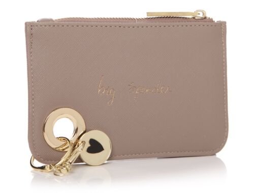 "Ladies srutis Designs Holy Chic taupe portamonete /""BIG spendaccione/"" Slogan nuovo regalo"