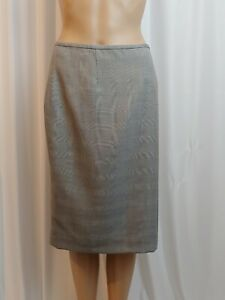 Calvin Klein Womens Skirt Size 10 Gray Pencil Below Knee Lined