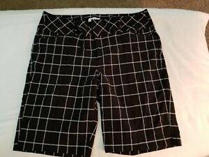 Women-039-s-Elle-black-amp-white-shorts-size-16