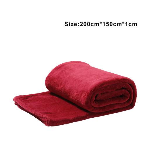 Cozy Warm Faux Fur Fleece Blanket Soft Mink Bed Sofa Chair Throw Various Colours