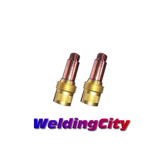 MILLER ELECTRIC 13N24L Collet,Copper,Gas Lens,1//8 In,PK2