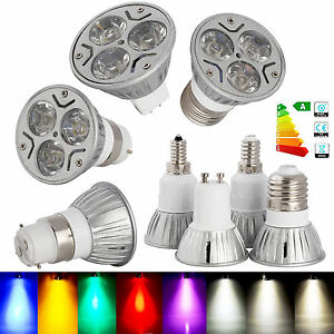 bright 3w dimmable e12 e14 e27 gu10 gu5 3 b22 cree led spotlight bulb lamp st 62 ebay. Black Bedroom Furniture Sets. Home Design Ideas