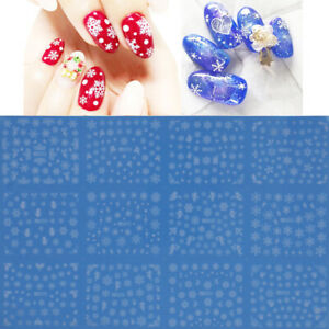 12-In-1-Nail-Art-Water-Decals-Stickers-Christmas-Snow-White-Snowflakes-Reind-S