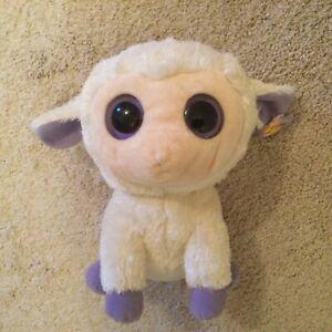 "Ty Clover Lamb Beanie Boo Buddy 9"" - Purple Hang Tag"
