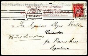 NORWAY-TO-ARGENTINA-Postcard-1905-VF