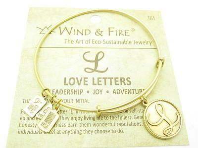 Wind /& Fire Life/'s A Beach Gold Charm Wire Bangle Stackable Bangle Bracelet Gift