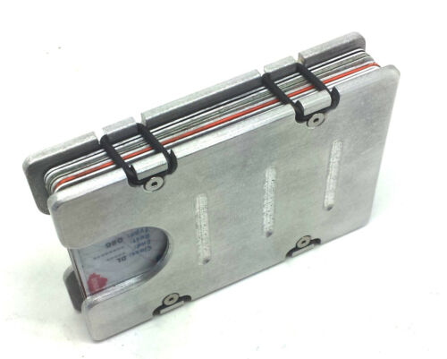 Aluminum RFID protection BilletVault Wallet//Card Holder Silver FREE SHIPPING