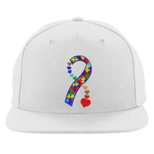 Disease Awareness Embroidered Cap Heart Autism Ribbon Snapback