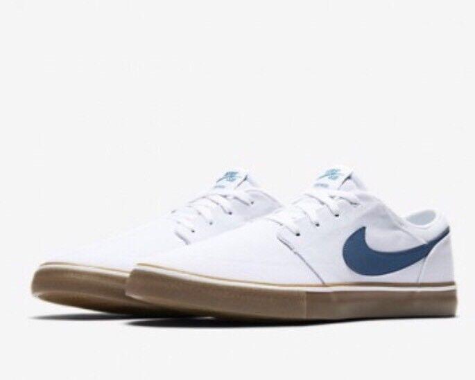 Nike SB Portmore II Solar Uomo Skateboarding Canvas Shoes 880268 149 Size 5.5