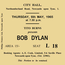 Bob Dylan Concert Coasters May 1965 Ticket High quality Coaster