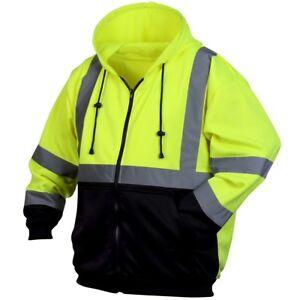 Pyramex-Class-3-Reflective-Black-Bottom-Safety-Sweatshirt-Yellow-Lime