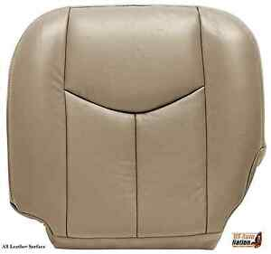 2004 2005 2006 chevy silverado 1500 2500 driver bottom leather seat cover tan ebay. Black Bedroom Furniture Sets. Home Design Ideas