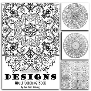 adults coloring book designs mandala beautiful patterns stress relief art paint 692591079 ebay. Black Bedroom Furniture Sets. Home Design Ideas