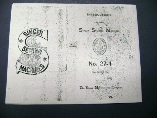 others Free Shipping ! Singer Treadle Sewing Machine Manual for Model 27-4 1905