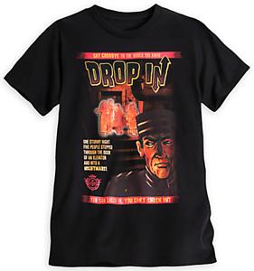 """Men/'s T-shirt Disney Indiana Jones Tower of Terror /""""Drop In/"""" Black Graphic Tee"""