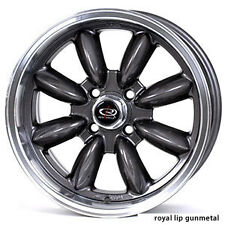 1 ROTA RB 16X7 4X100 ET40 56.1 HUB GUN METAL RIM WHEELS