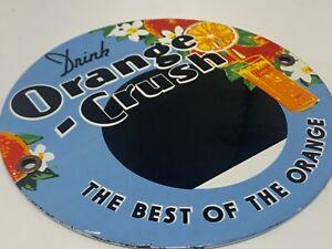 VINTAGE-ORANGE-CRUSH-ADVERTISING-SODA-POP-PORCELAIN-METAL-SIGN-6-034-SODA-POP-SIGN