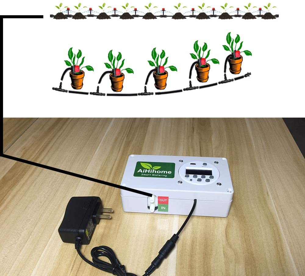Automatic Watering System Indoor Plant Auto Watering - by Digital Timer Watering