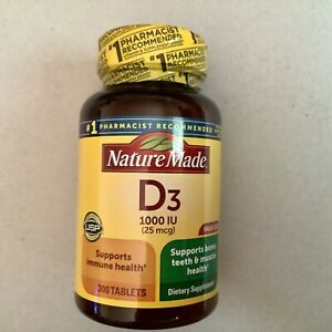 Nature Made Vitamin D3 1000 Iu 25mcg Tablets 300 Count Supports Immunity 31604026837 Ebay