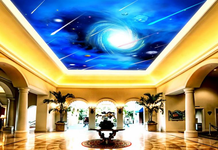 3D Meteor Ceiling WallPaper Murals Wall Print Decal AJ WALLPAPER US