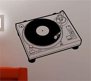 DJ-record-deck-Musica-Plato-Giratorio-adhesivo-pared-dormitorio-infantil