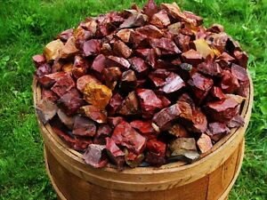 1000-Carat-Lots-of-Red-Jasper-Rough-a-FREE-Faceted-Gemstone