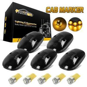 FOR-99-02-DODGE-264145BK-SMOKE-ROOF-CLEARANCE-TOP-LIGHT-168-5050-AMBER-LED-5pcs