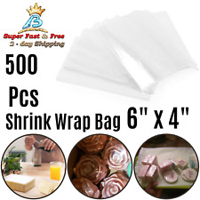 Soaps Candles Jars High Clarity Clear Heat Shrink Film Wrap Bags 6 Inch 500 Pack