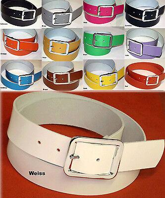 100% Pelle Cintura Belt Circa 3,9cm Larga Lunghezza & Colore A Scelta-mostra Il Titolo Originale Negozio Online