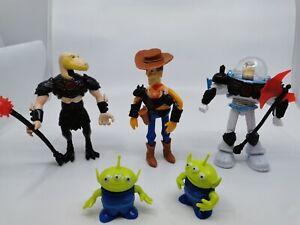 Toy-Story-Action-Figure-Woody-Buzz-Lightyear-Reptillus-Alien-set-5-16cm
