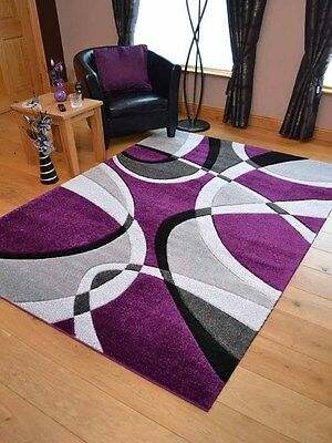 New Silver Grey Purple Modern Design Soft Thick Rugs Small Extra Large Mat Cheap