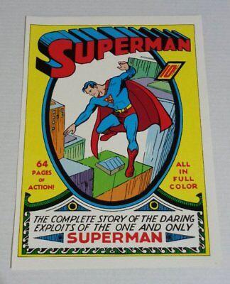 Vintage original 1970/'s DC Action Comics 1 Superman comic book cover art poster