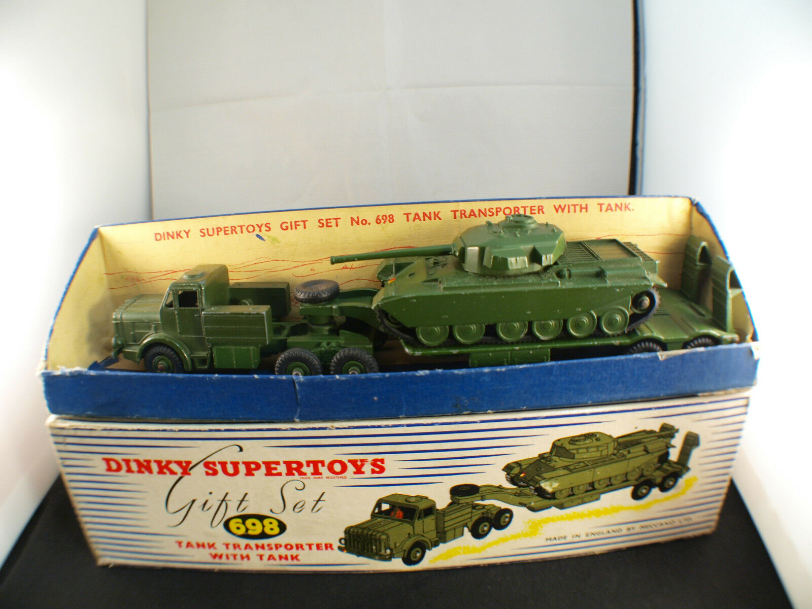 Dinky Toys GB 698 gift set tank transporter militaire Thornycroft Mighty Antar