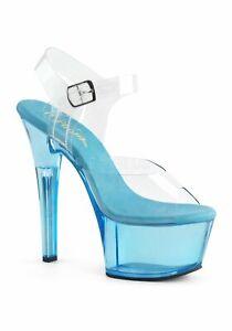 Platform 14 Strap Ankle Sandal About Heel2 6 Aspire Details 608t Pleaser Inch Tinted 8vmnN0w