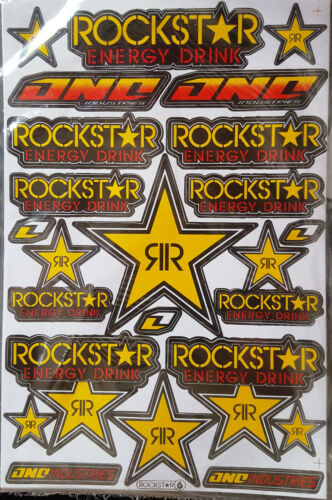 Set 27 x 18 cm neu 036 17 ROCKSTAR Energy Supercross Sticker Aufkleber