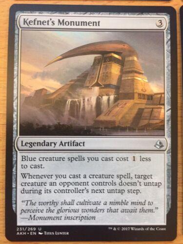 MTG Magic the Gathering Card Amonkhet x 1 Kefnet/'s Monument Artifact