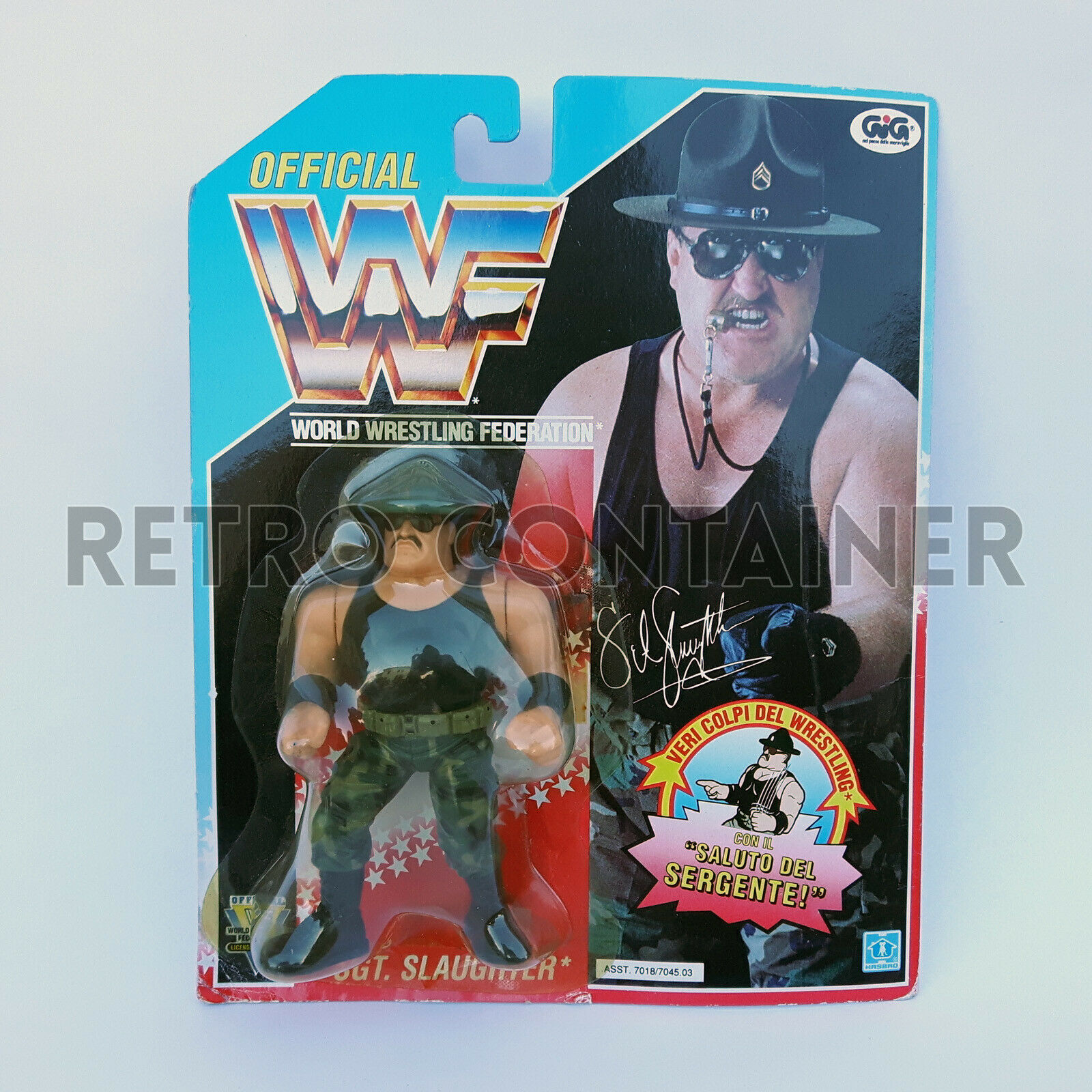 HASBRO WWF Vintage Action Figure - Sgt. Slaughter - MISB MOC NEW