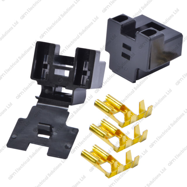Universal H4 472 Headlight Connector Repair Plug Socket With Connectors Durite