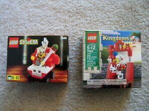 LEGO-System-Castle-Kingdoms-Super-Rare-2586-King-amp-7953-Court-Jester