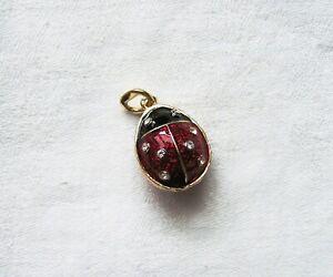 Marienkaefer-ladybird-Anhaenger-mit-edlen-Kristallen-Schmuckanhaenger-r0t-schwarz