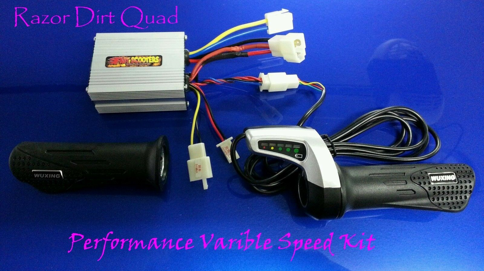 Razor electrical kit- Dirt Quad- Variable Speed Kit -controller and thredtle