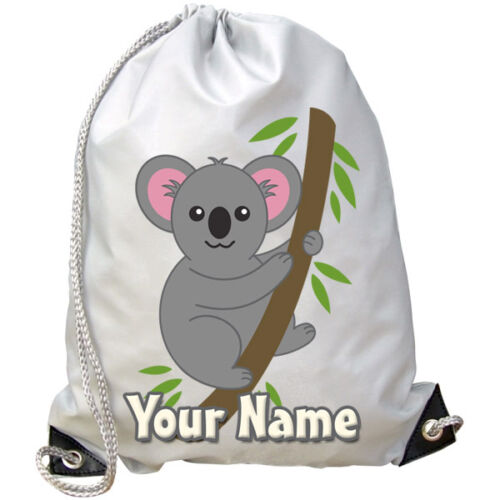 KOALA PERSONALISED GYM SWIMMING DANCE BAG GREAT GIFT & NAMED TOO