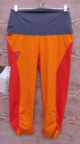 E9 Bla-Q; 3/4-Lange Kletterhose für Damen Bergsteigen & Klettern orange-grenadine