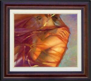 Original-Oil-Painting-female-art-nude-girl-on-canvas-20-034-x24-034