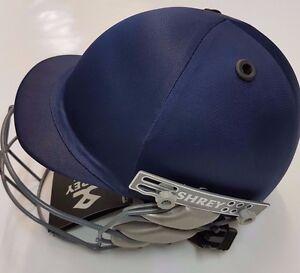 Shrey-Junior-Navy-Blue-Cricket-Helmet-Adjustable-Strap-at-the-Back-Free-Ship
