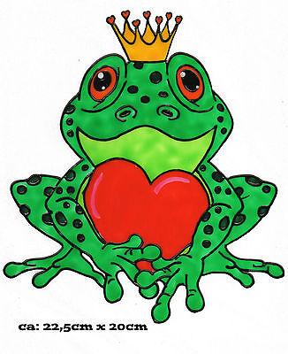 fensterbild window color bild fensterfolie frosch mit herz 328   ebay