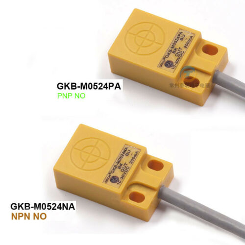5mm Interruptor de detección del sensor de proximidad inductivo plano 3 Hilos PNP//NPN no GKB-M0524