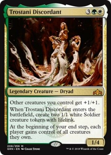 Foil Guilds of Ravnica 1x NM-Mint English Foil Trostani Discordant